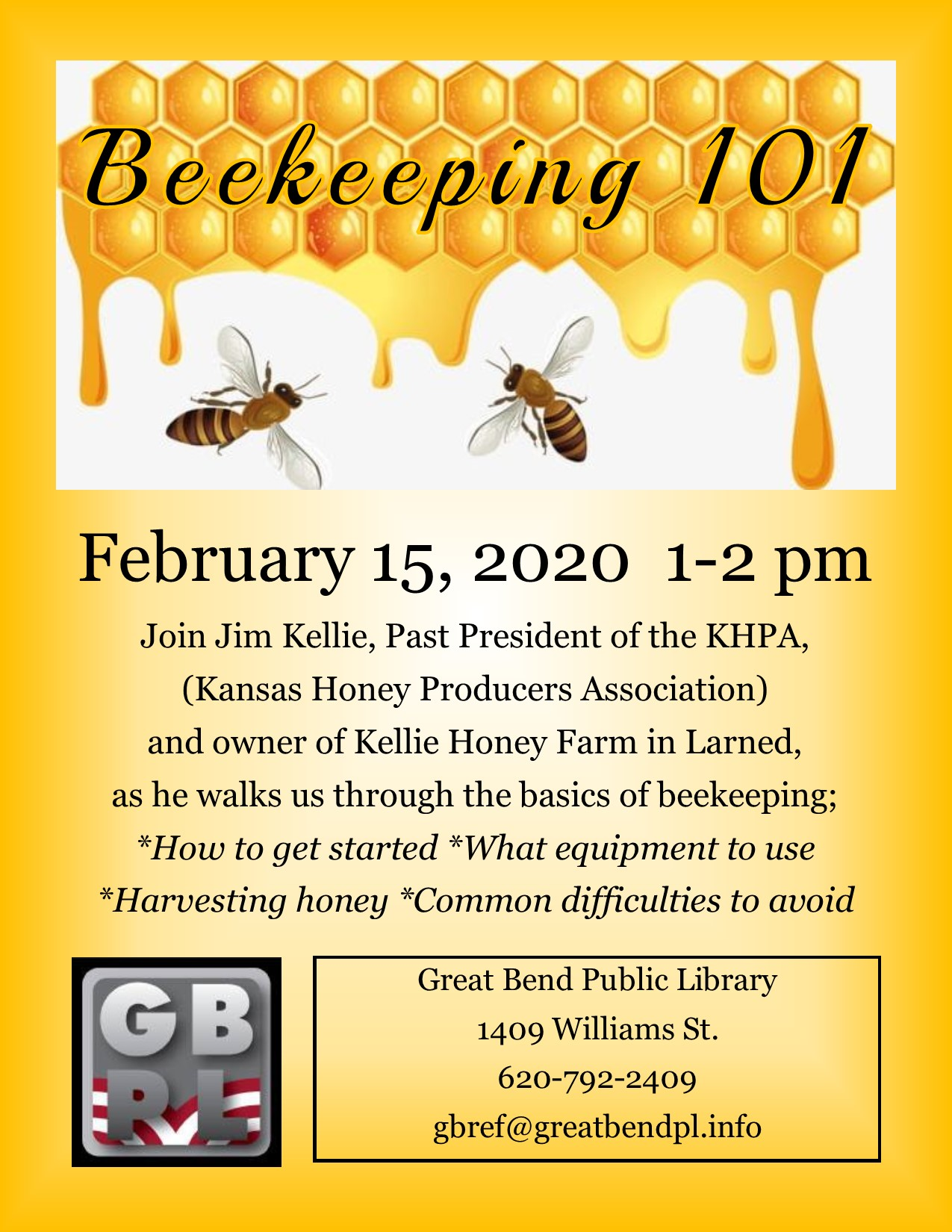 Beekeeping 101 with Jim Kellie from Larned