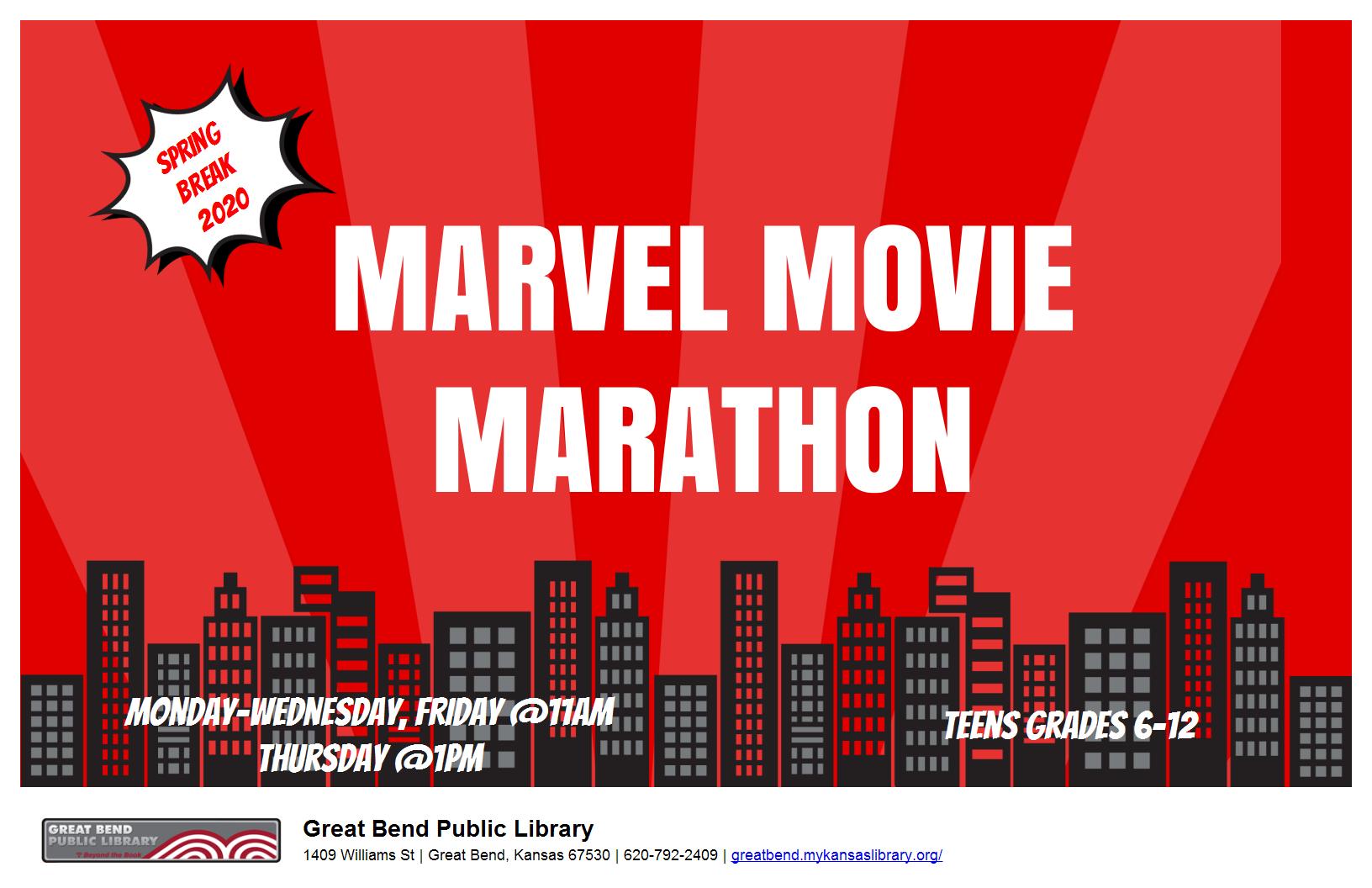 Spring Break 2020: Marvel Movie Marathon