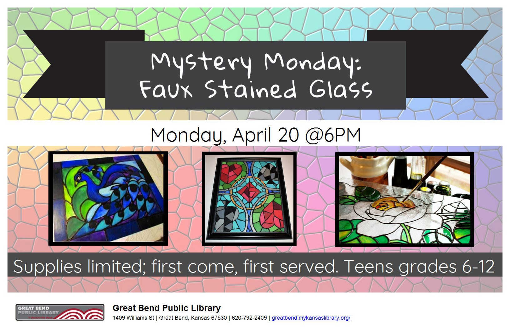 Mystery Monday: Faux Stained Glass