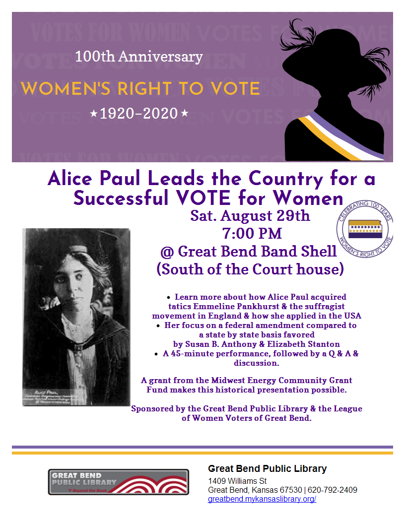 Alice Paul leads the country for a successful VOTE for Women
