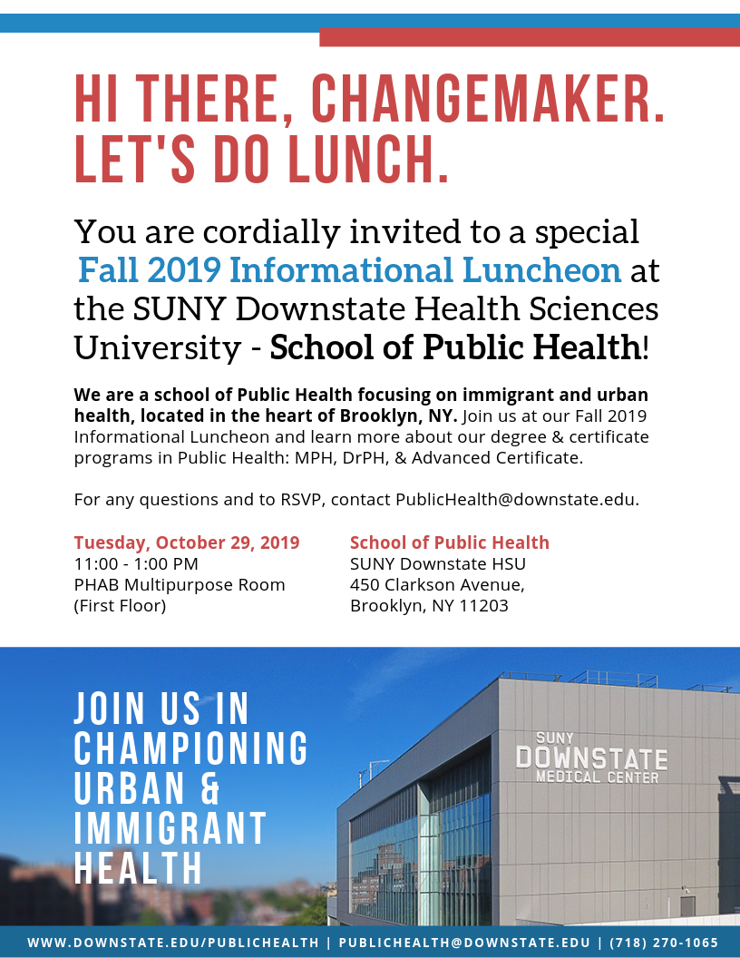 School  of Public Health Fall Informational Luncheon
