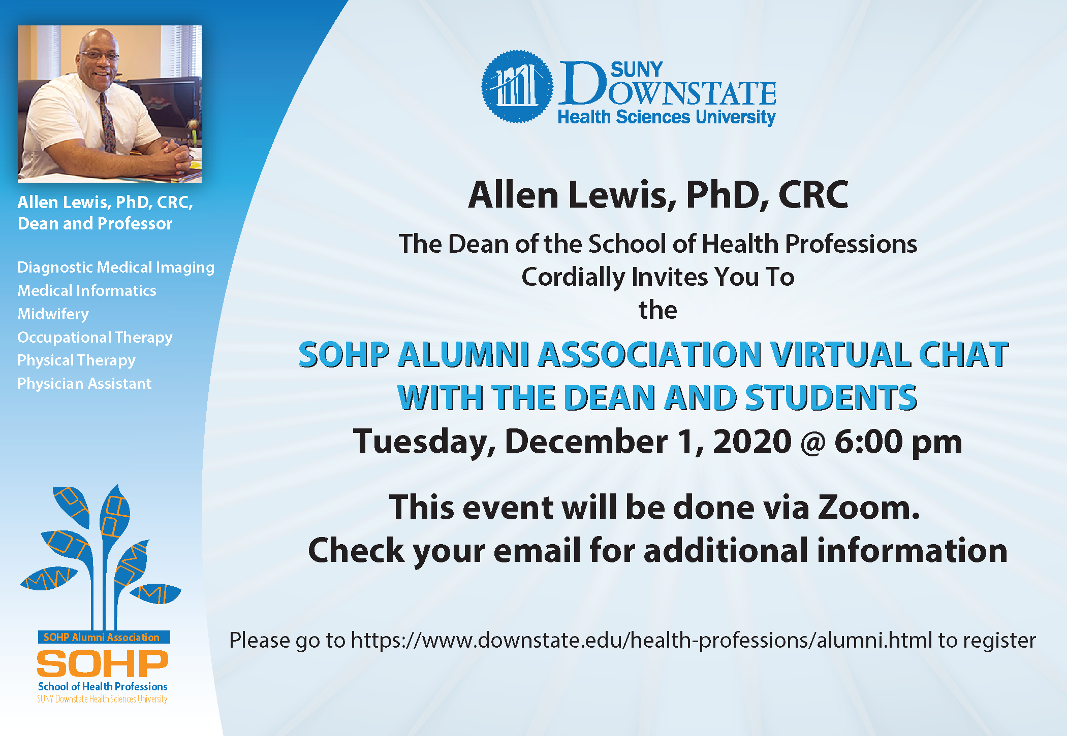 SoHP Alumni Association Event: Chat with the Dean and Students