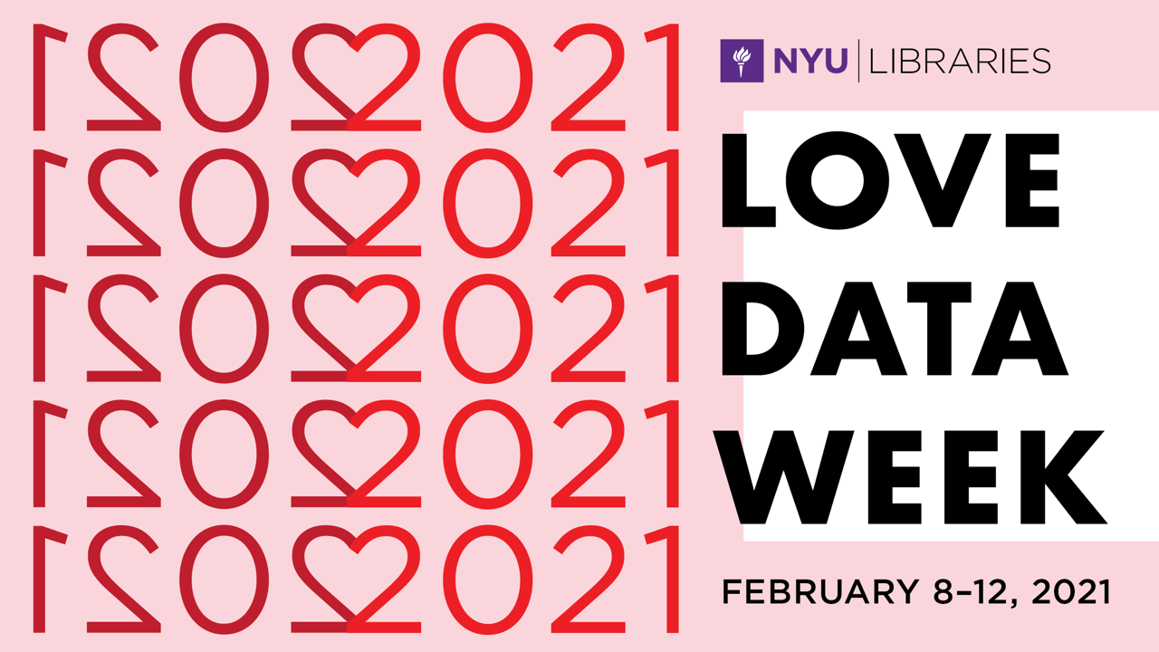 NYU Data Services Love Data Week 2021 logo