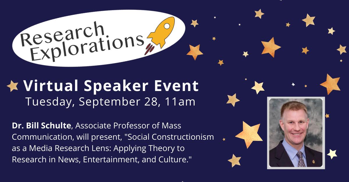 Research Explorations: Dr. Bill Schulte (Virtual Event)