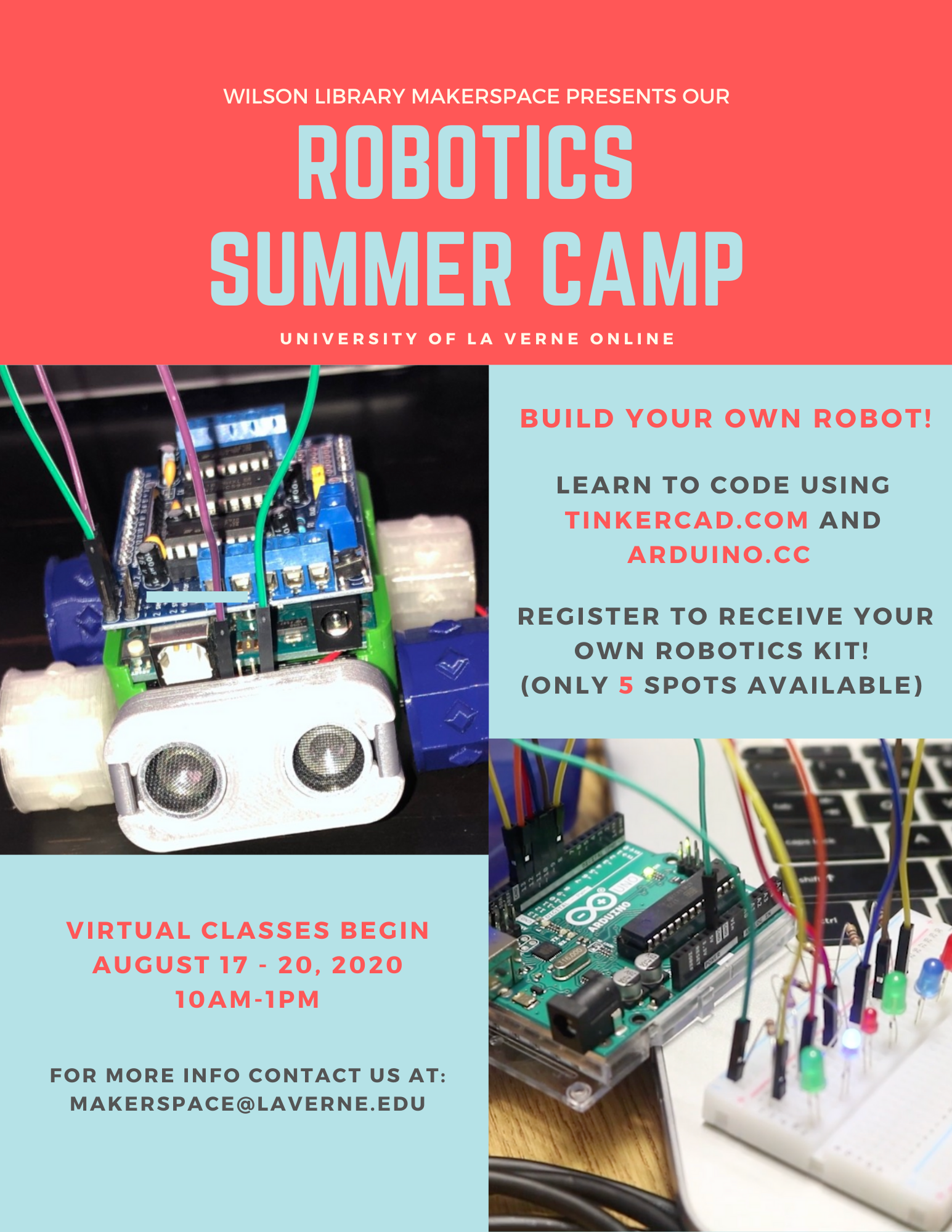 The Wilson Library's Makerspace Robotics Camp
