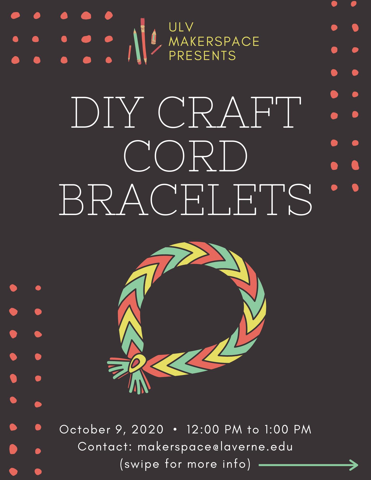 DIY Craft Cord Bracelet Making