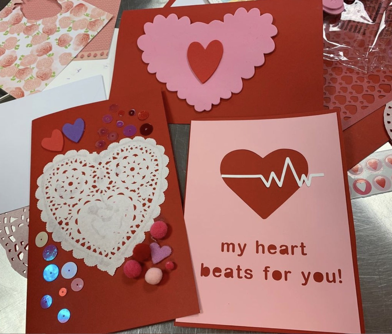 Valentine Card Making Pop-Up