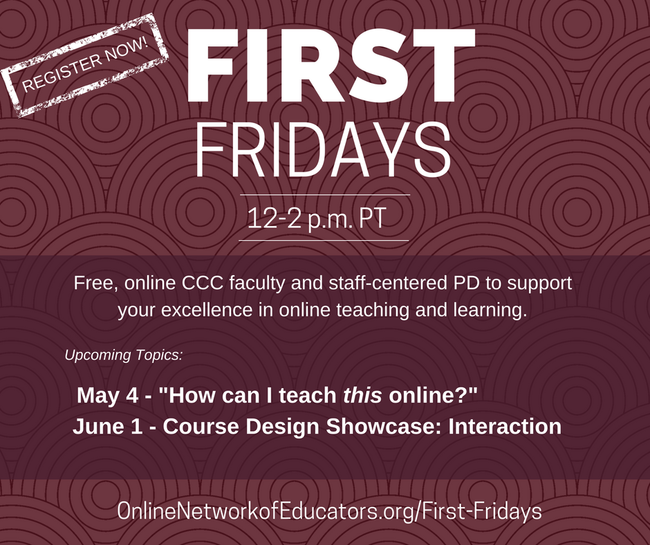 First Fridays: Course Design Showcase - Interactions
