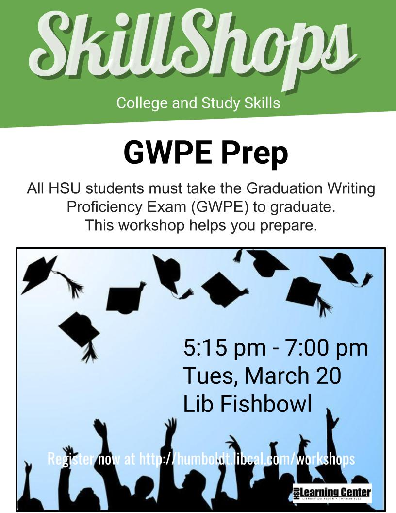 GWPE Prep Workshop