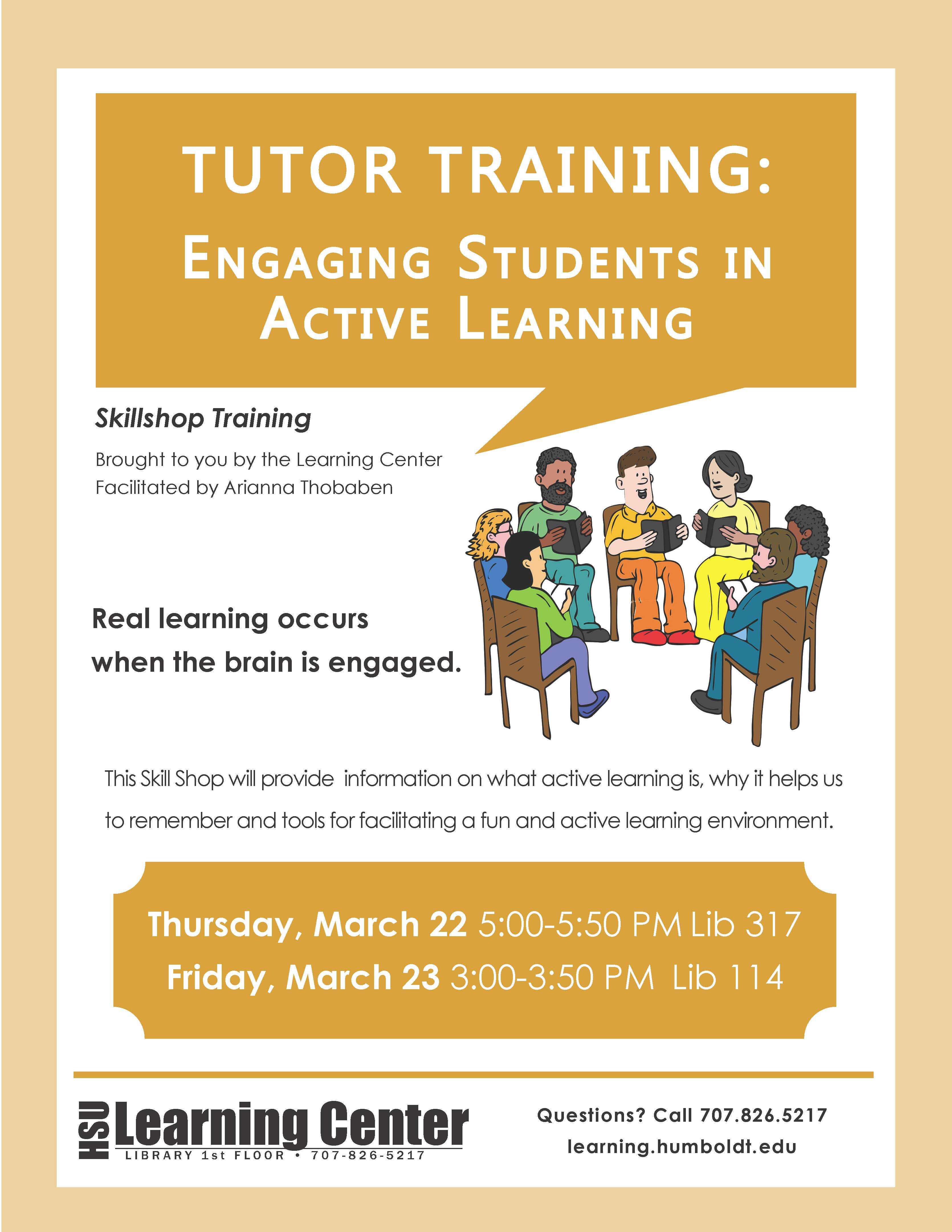 Tutor Training: Active Learning
