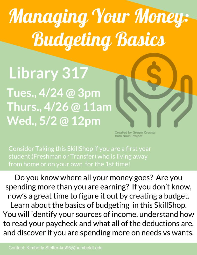 CANCELLED: Managing Your Money: Budgeting Basics