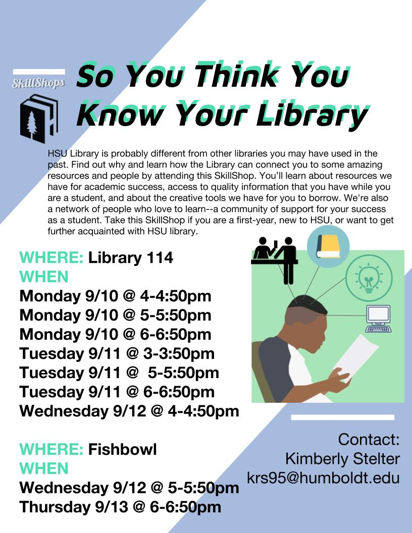 So You Think You Know Your Library