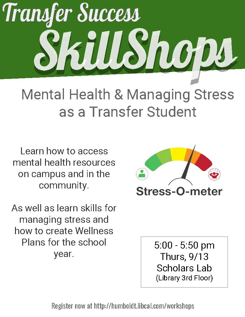 Transfer Success: Mental Health & Managing Stress as a Transfer Student