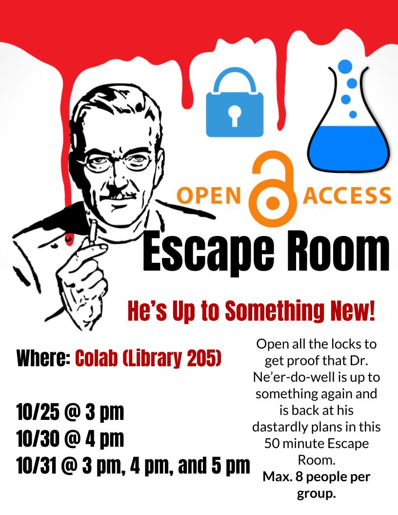 Open Access Escape Room
