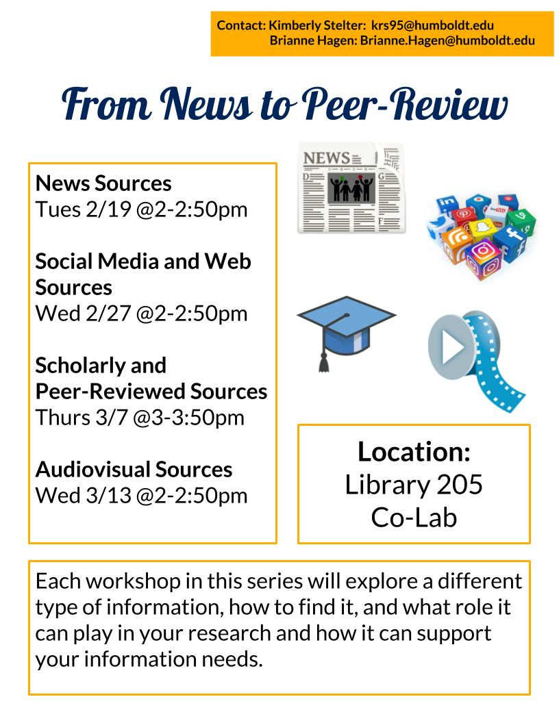 From News to Peer-Review: Scholarly and Peer-Reviewed Sources