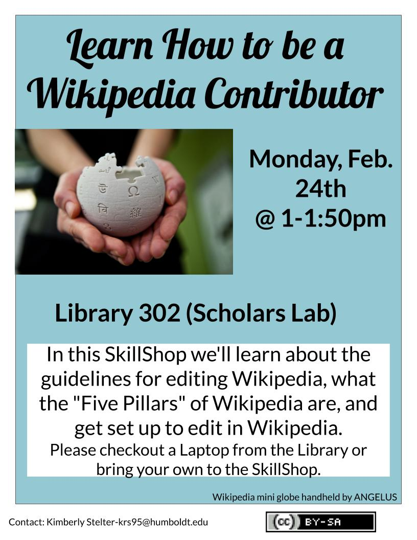 **CANCELLED** Learn How to be a Wikipedia Contributor