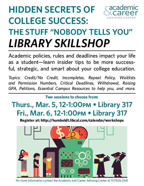 "Hidden Secrets of College Success: The Stuff ""Nobody Tells You"""