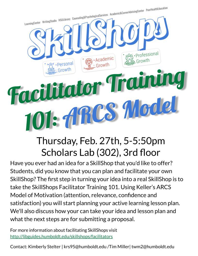SkillShop Facilitator Training 101: ARCS