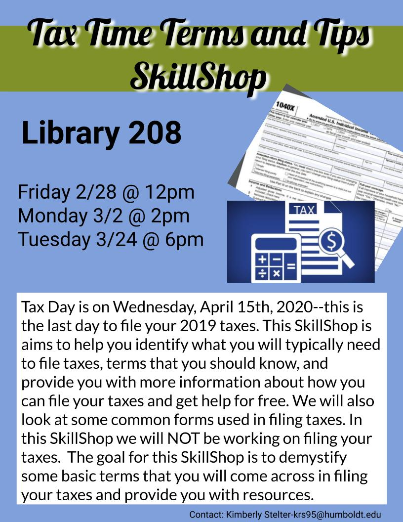 Tax Time Terms and Tips