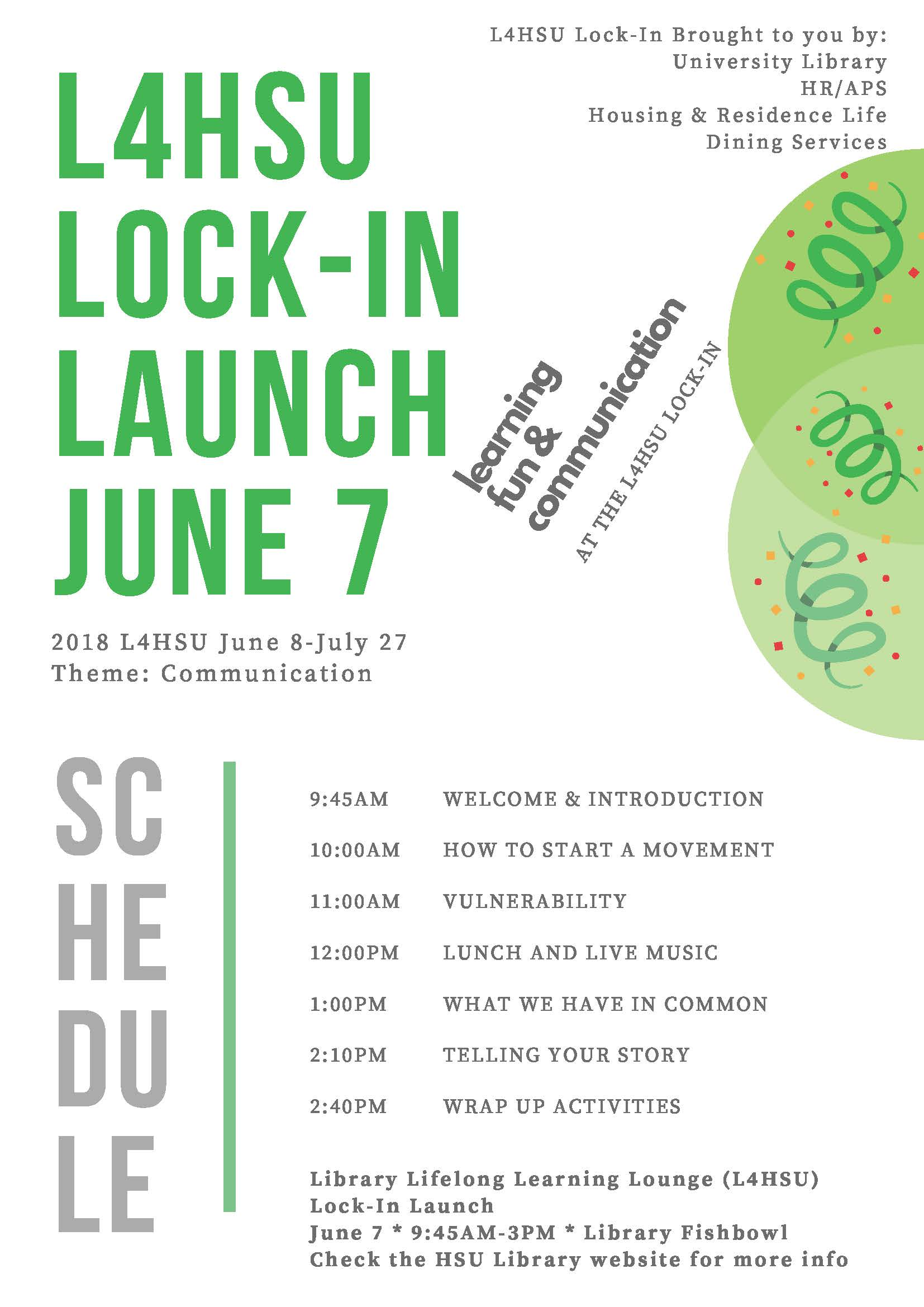 L4HSU Launch Lock-in