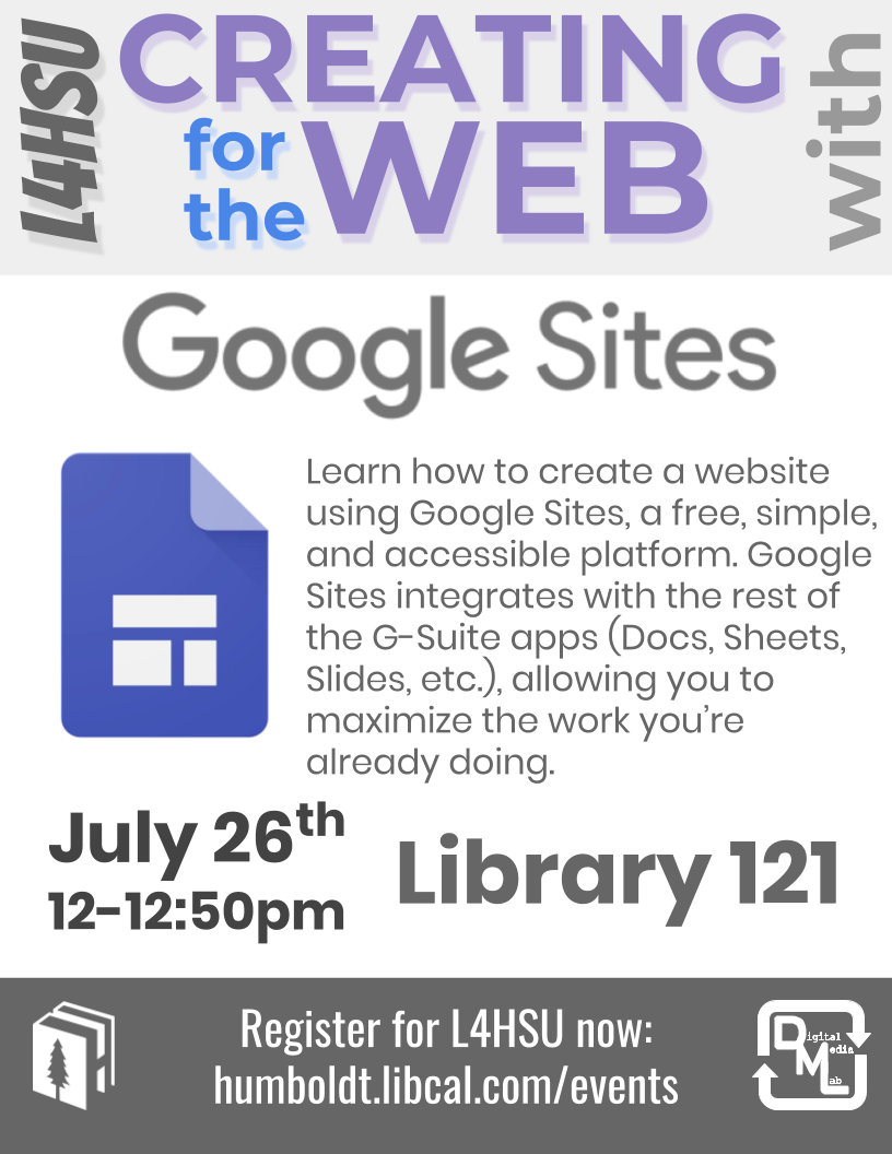 Creating for the Web with Google Sites