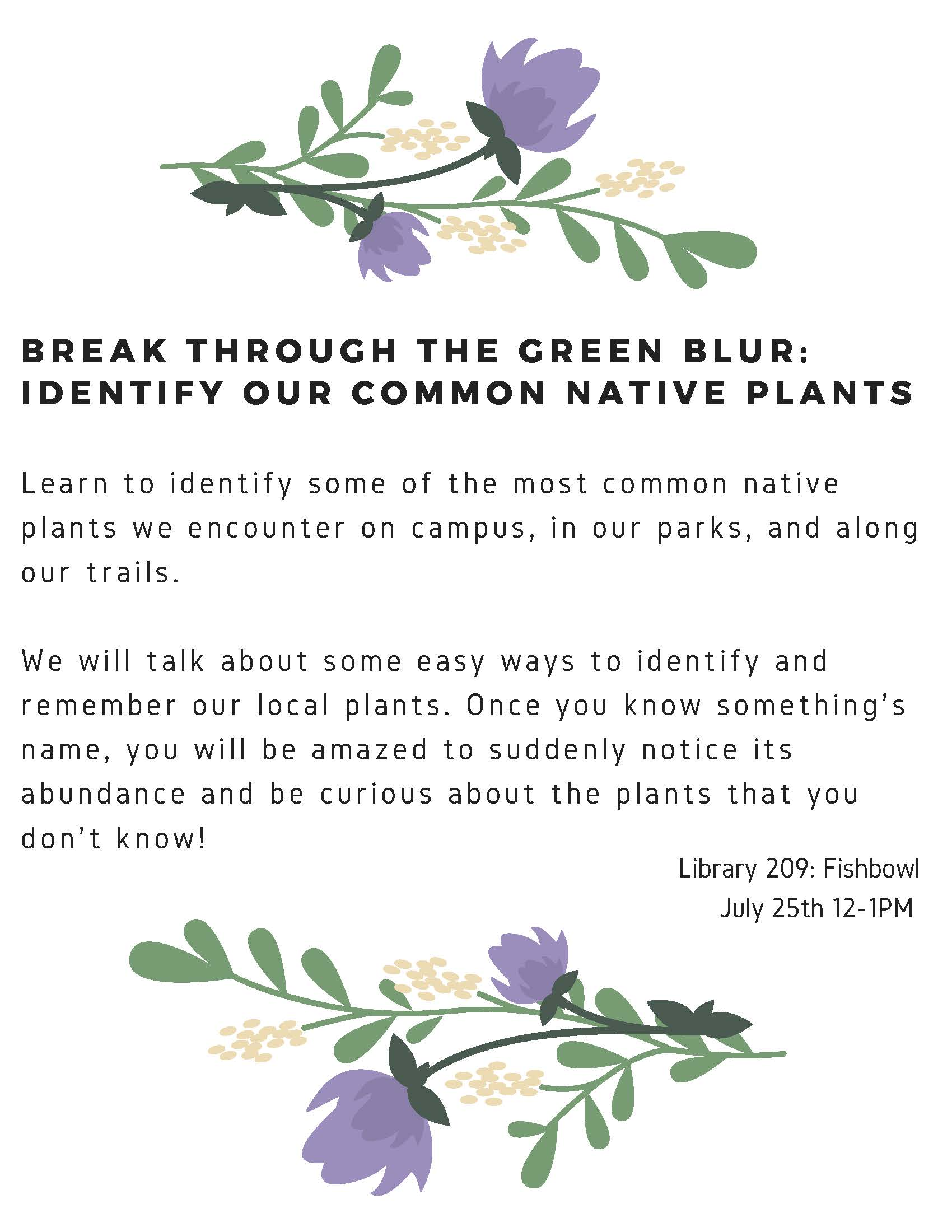 Break through the green blur: identify our common native plants