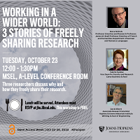 Working in a Wider World: Three Stories of Freely Sharing Research