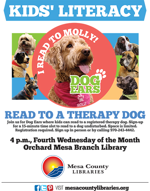 Dog Ears Reading Program - Kids Read to Dogs! - Orchard Mesa Branch