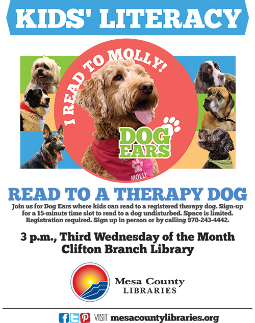 Dog Ears Reading Program - Kids Read to Dogs! - Clifton Branch