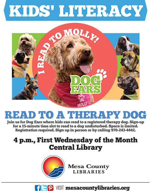 Dog Ears Reading Program - Kids Read to Dogs! - Central Library
