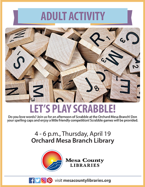 Scrabble at the Orchard Mesa Branch Library