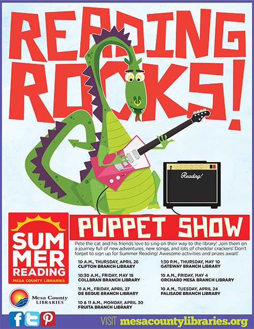 Reading Rocks! Summer Reading Puppet Show - Palisade Branch