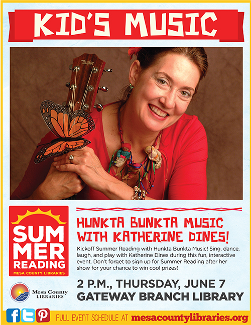 Hunk-Ta Bunk-Ta Children's Music, Katherine Dines - Summer Entertainment Series - Gateway Branch