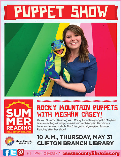 Rocky Mountain Puppets, Meghan Casey - Summer Entertainment Series - Clifton Branch