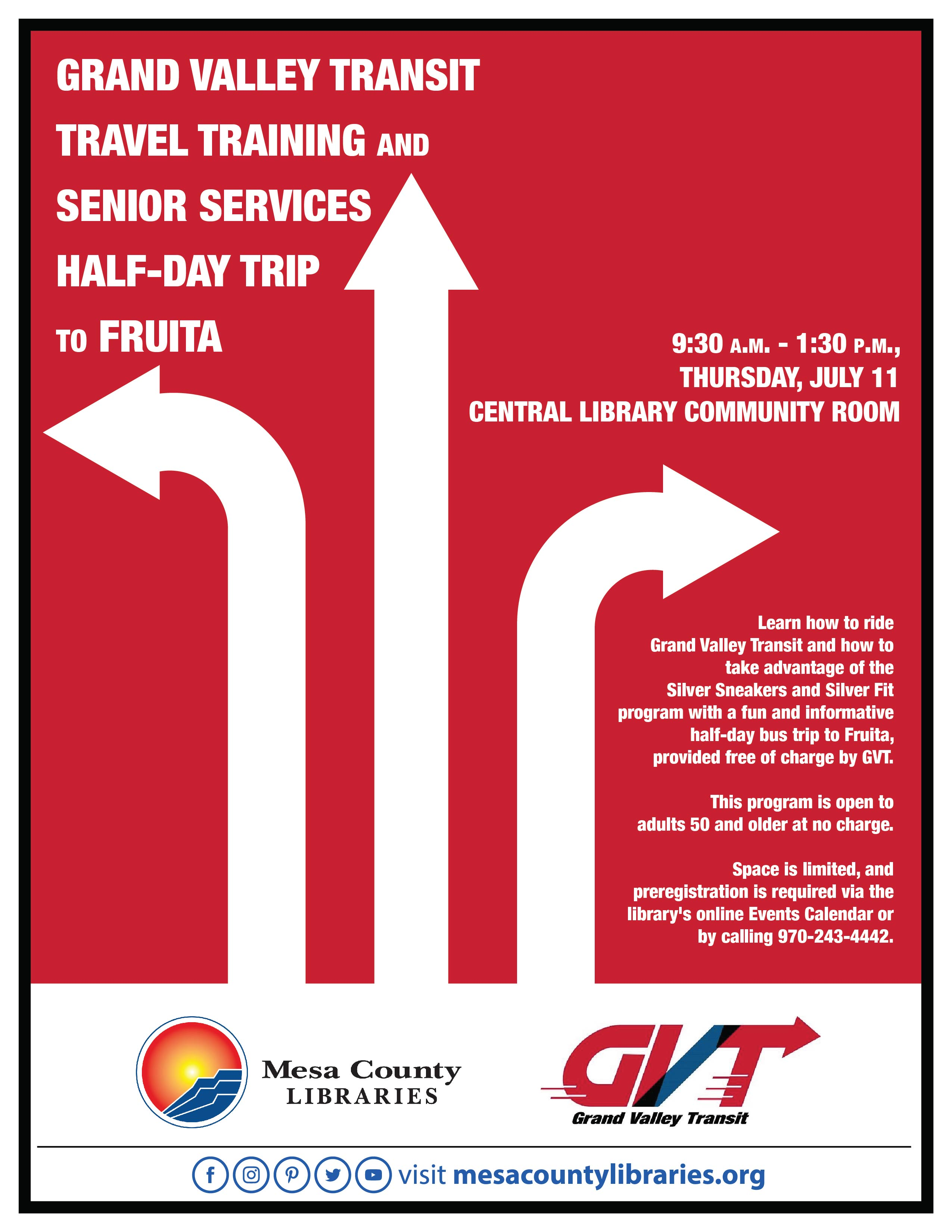 Grand Valley Transit Travel Training and Senior Services Half-Day Trip to Fruita