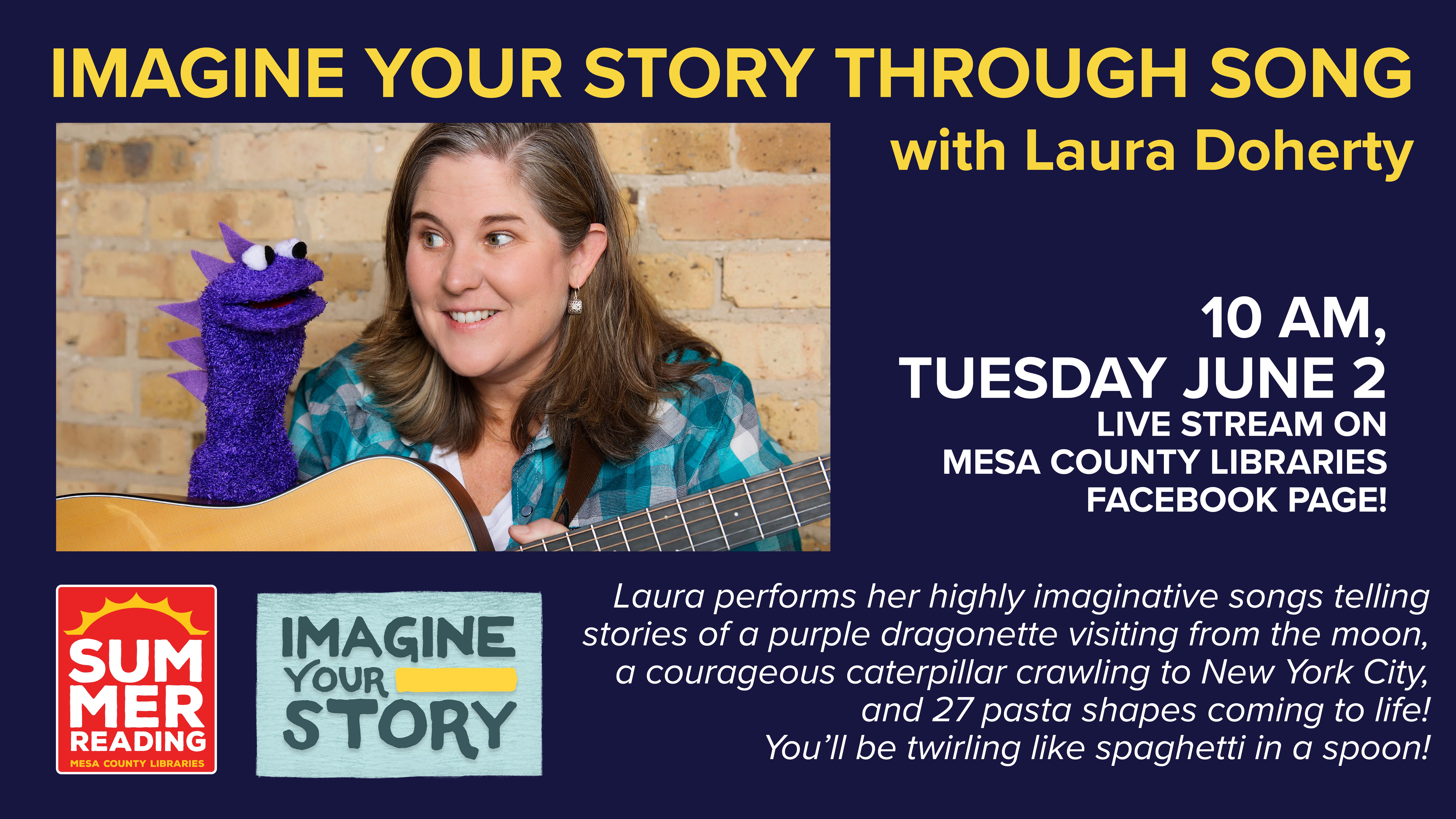 VIRTUAL Summer Reading Entertainment: Imagine Your Story Through Song with Laura Doherty