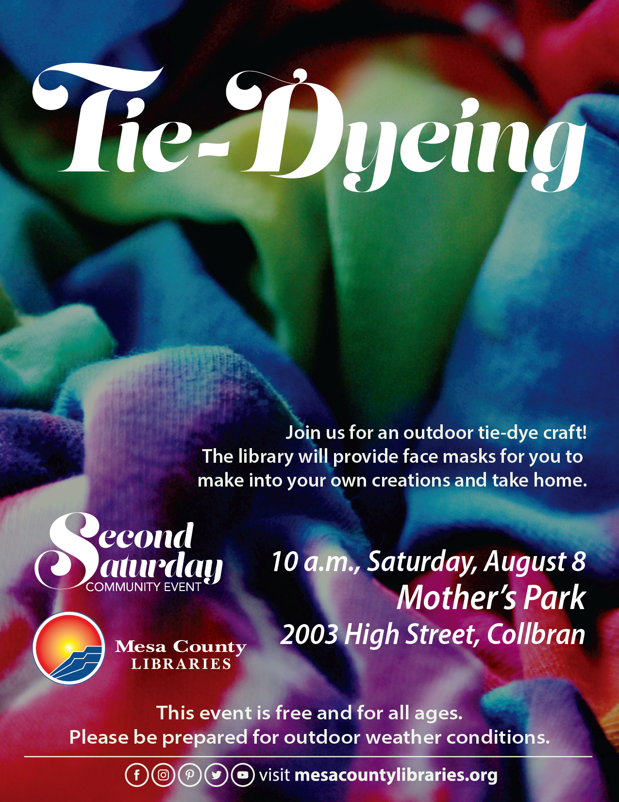 Tie-Dyeing - Second Saturday Community Event (Collbran)