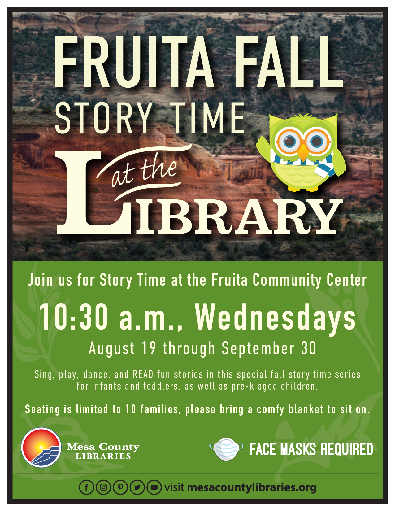 Fruita Fall Story Time at the Library