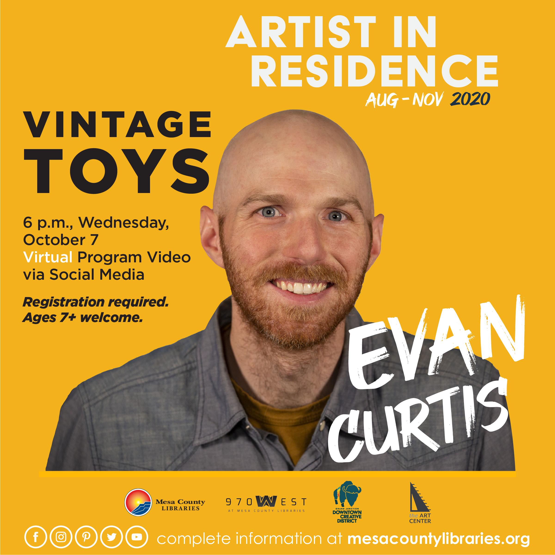 VIRTUAL Vintage Toys w/ Artist in Residence Evan Curtis