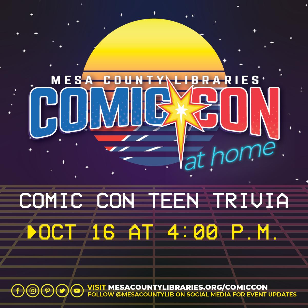 VIRTUAL Comic Con Teen Trivia