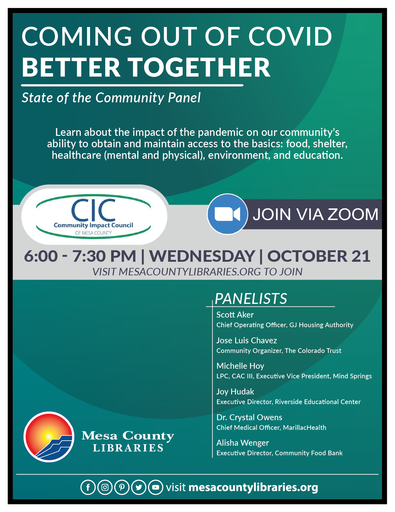 VIRTUAL Coming out of COVID Better Together - State of the Community Panel