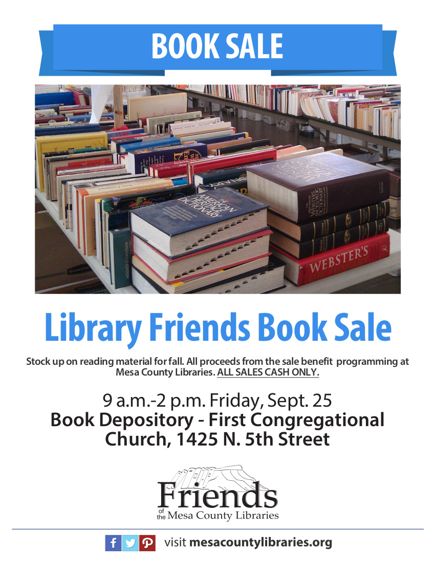 Book Sale to benefit Friends of Mesa County Libraries