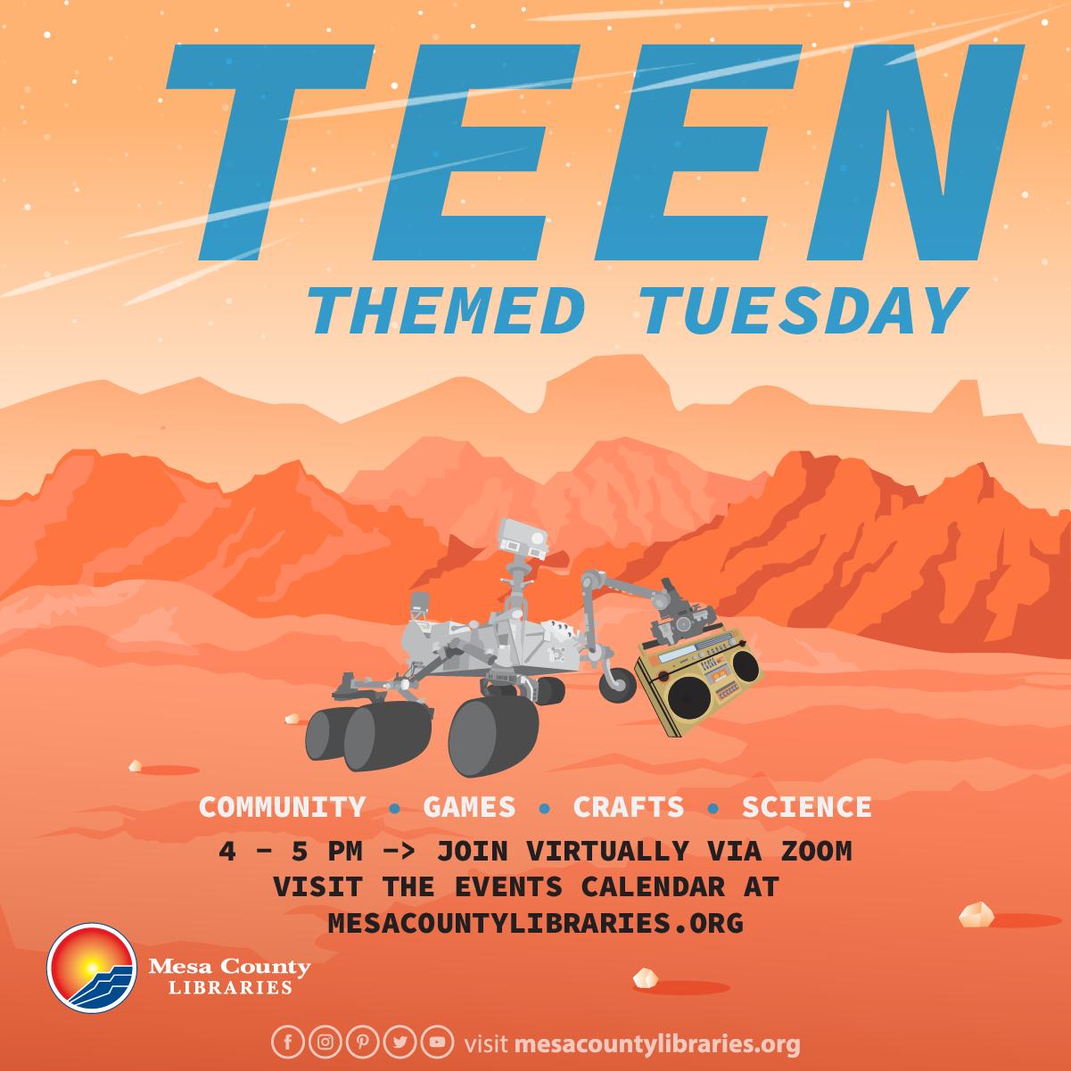 VIRTUAL Teen Themed Tuesday