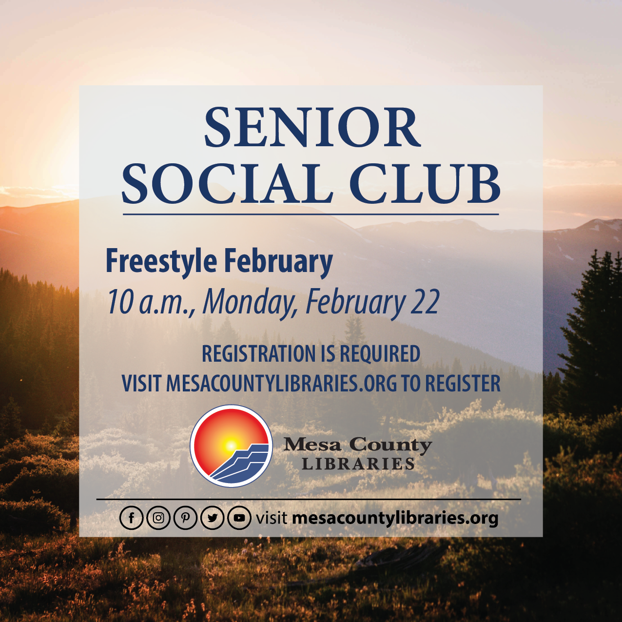 VIRTUAL Senior Social Club – Freestyle February