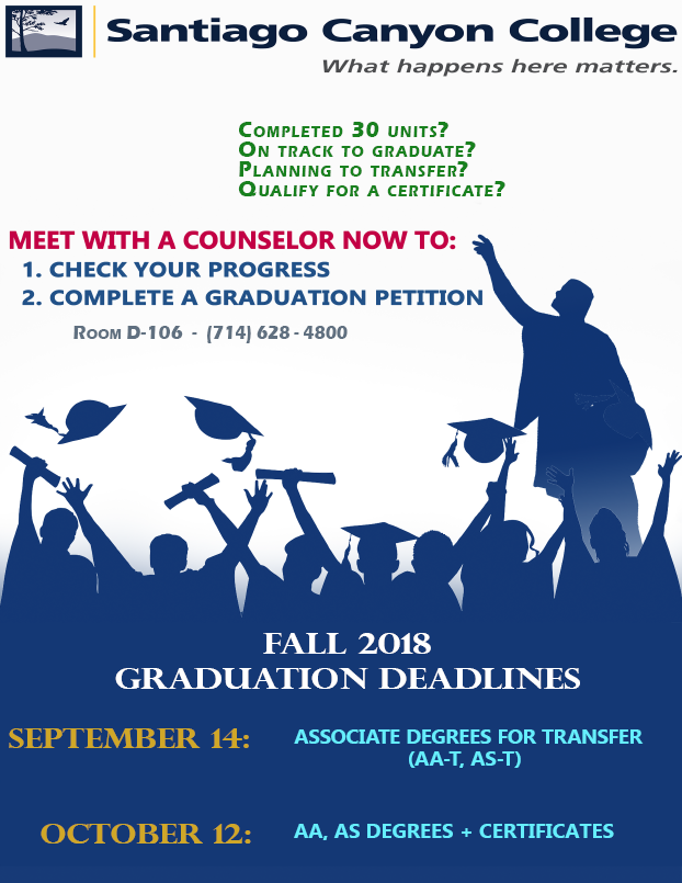 Workshop: How to Complete a Graduation Petition for Fall 2018