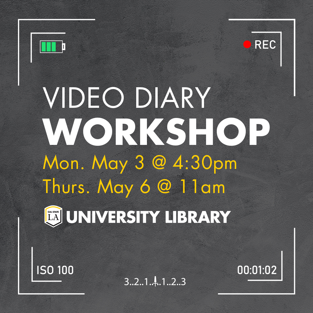 Library Live!: Video Diary Workshop