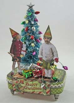 Classy Seniors: Mini Altered Christmas Tin