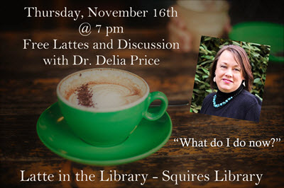 Latte in the Library with Dr. Delia Price