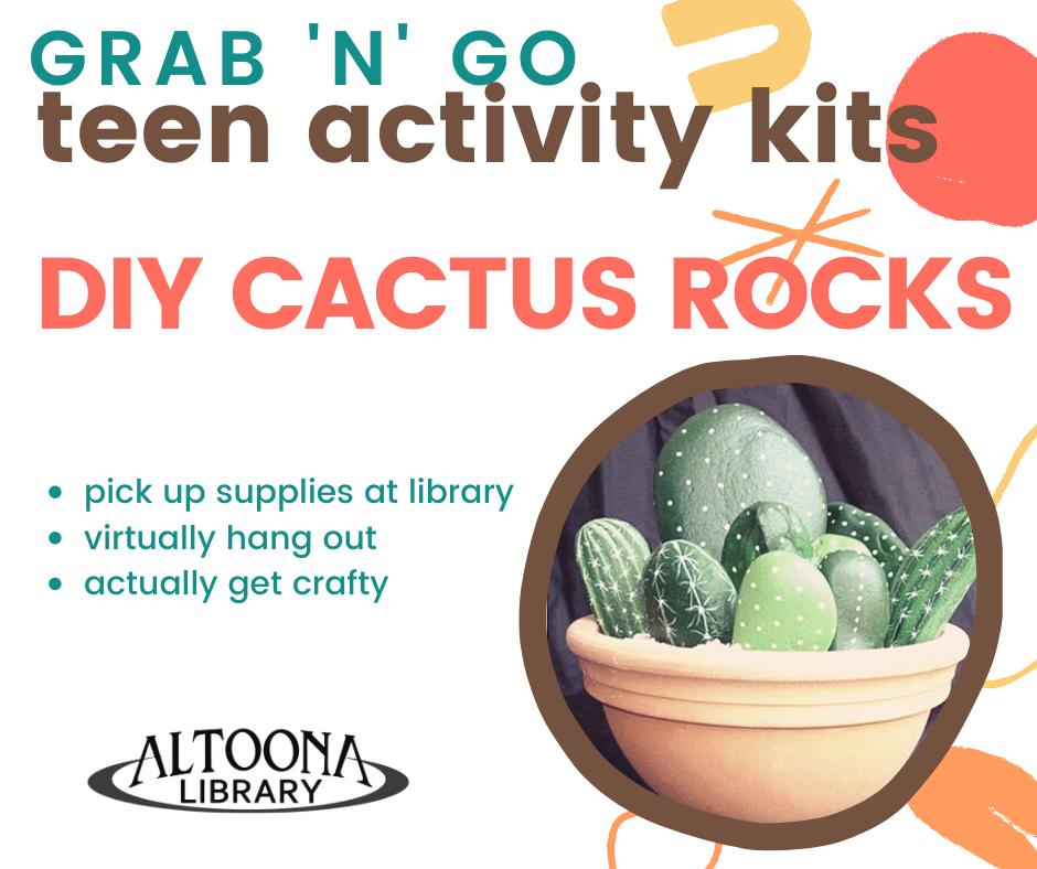 DIY Cactus Rocks: Activity Kit Grab 'n' Go