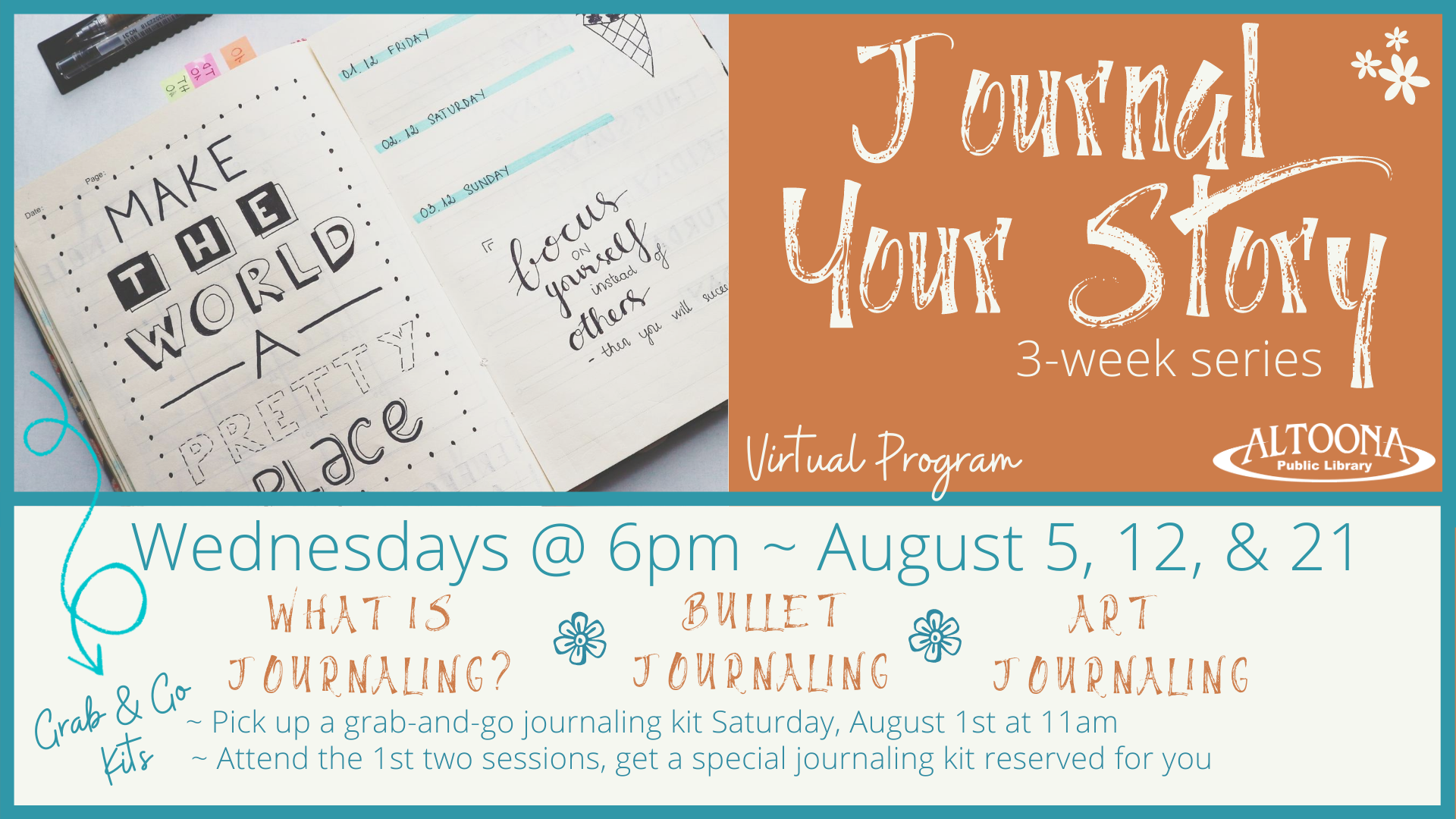 Journal Your Story Activity Kit Grab 'n' Go